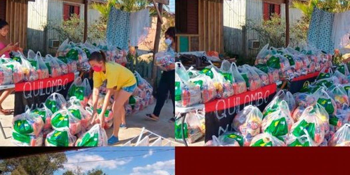 AMATRA IV, TRT-RS e Sintrajufe/RS entregam 200 cestas básicas ao Quilombo dos Machado