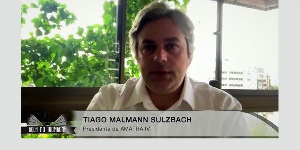 O presidente da AMATRA IV, Tiago Mallmann Sulzbach, falou sobre o teletrabalho no programa Boca no Trombone (Band TV)