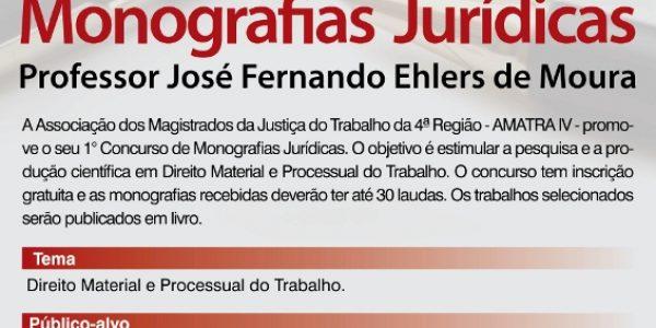 Participe do Concurso de Monografias Jurídicas
