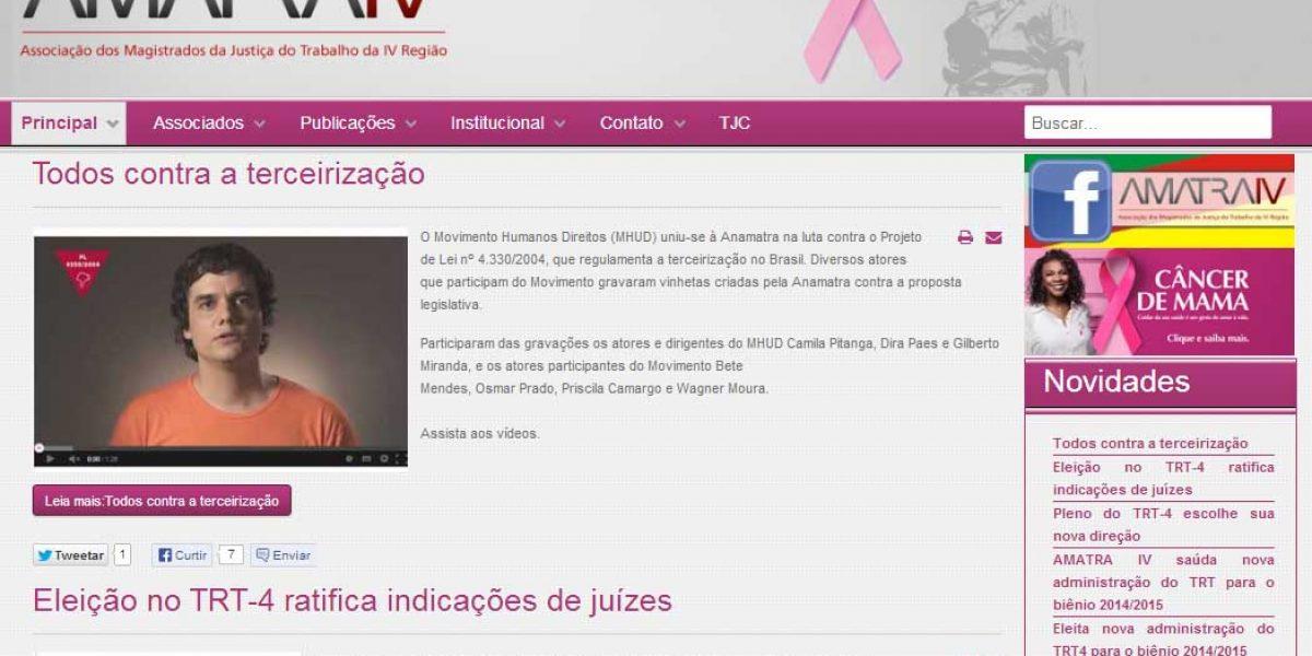 AMATRA adere ao movimento internacional Outubro Rosa