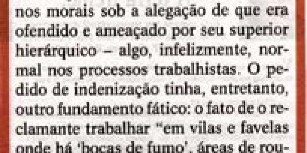 Artigo publicado no jornal O Sul, dia 25/11, veiculado na coluna da AMATRA IV