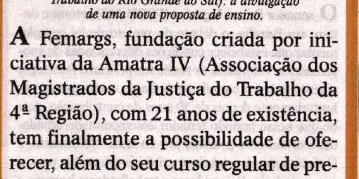Artigo da juíza Valdete Souto Severo publicado no jornal O Sul, dia 13/12, veiculado na coluna da AMATRA IV