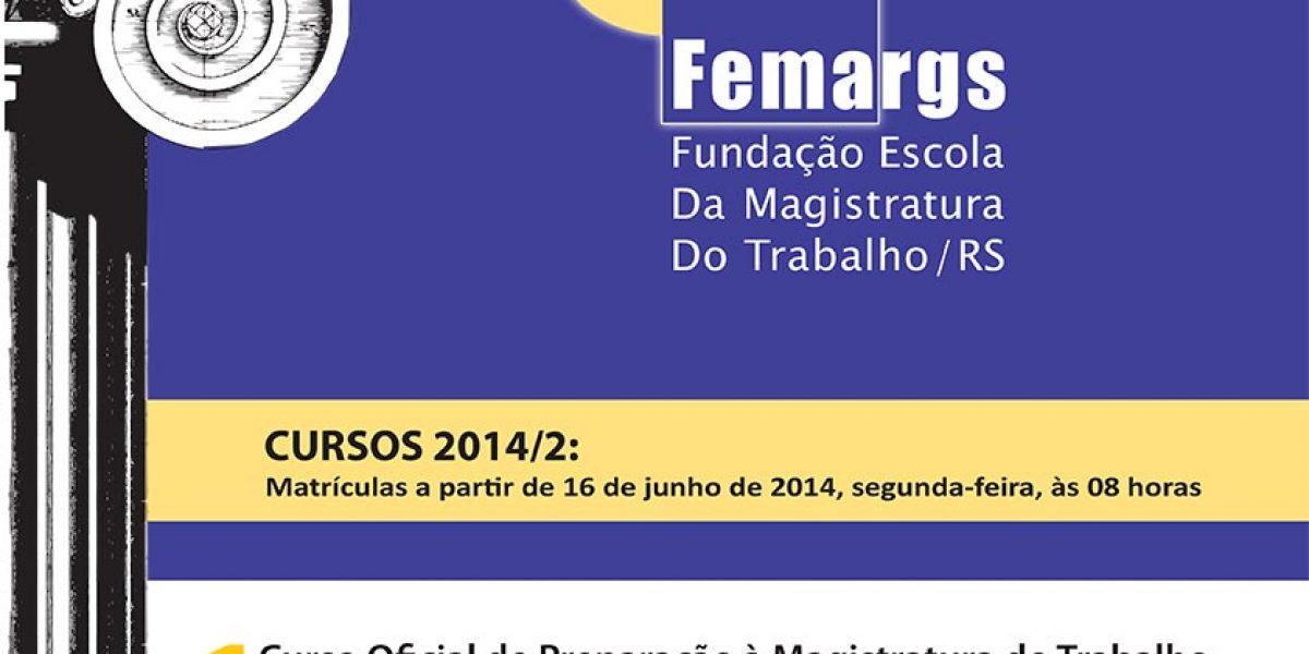 FEMARGS divulga cursos de especialização para o segundo semestre de 2014