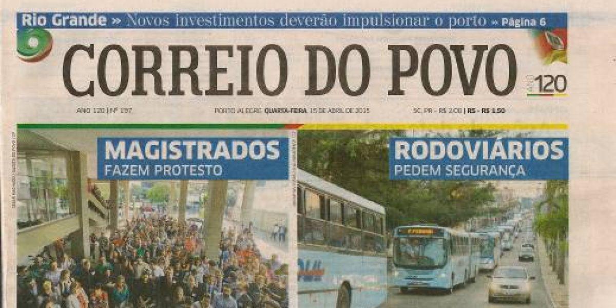 Notícia – CORREIO DO POVO 15-4-2015