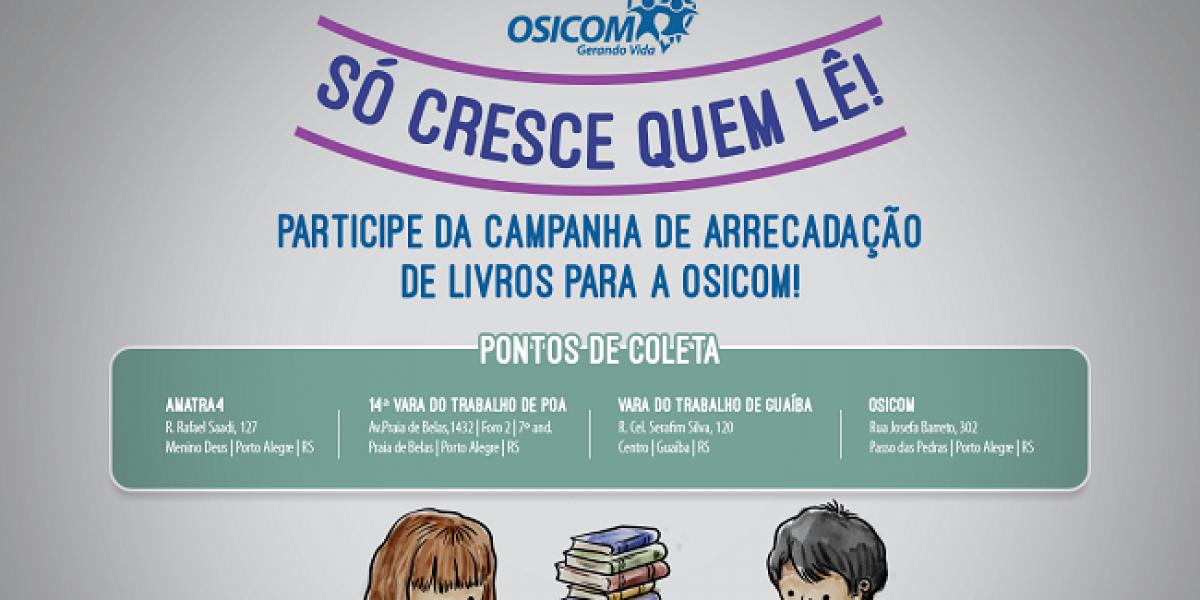 Doe livros e contribua para a criação da Biblioteca da Osicom