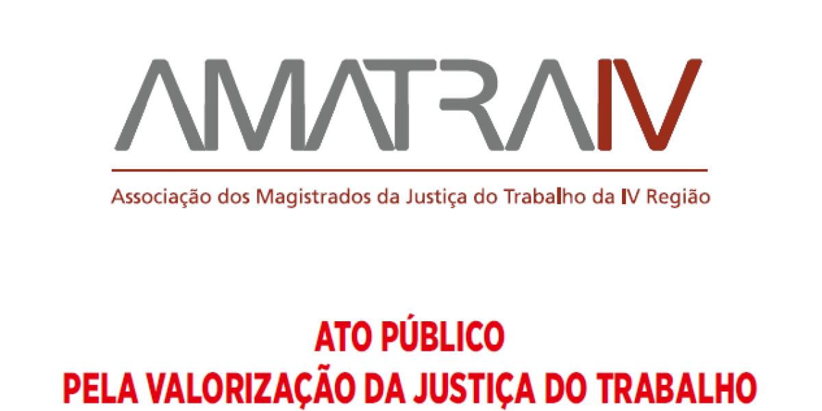 A AMATRA CONVIDA PARA ATO PÚBLICO NO DIA 02/05, ÀS 14h