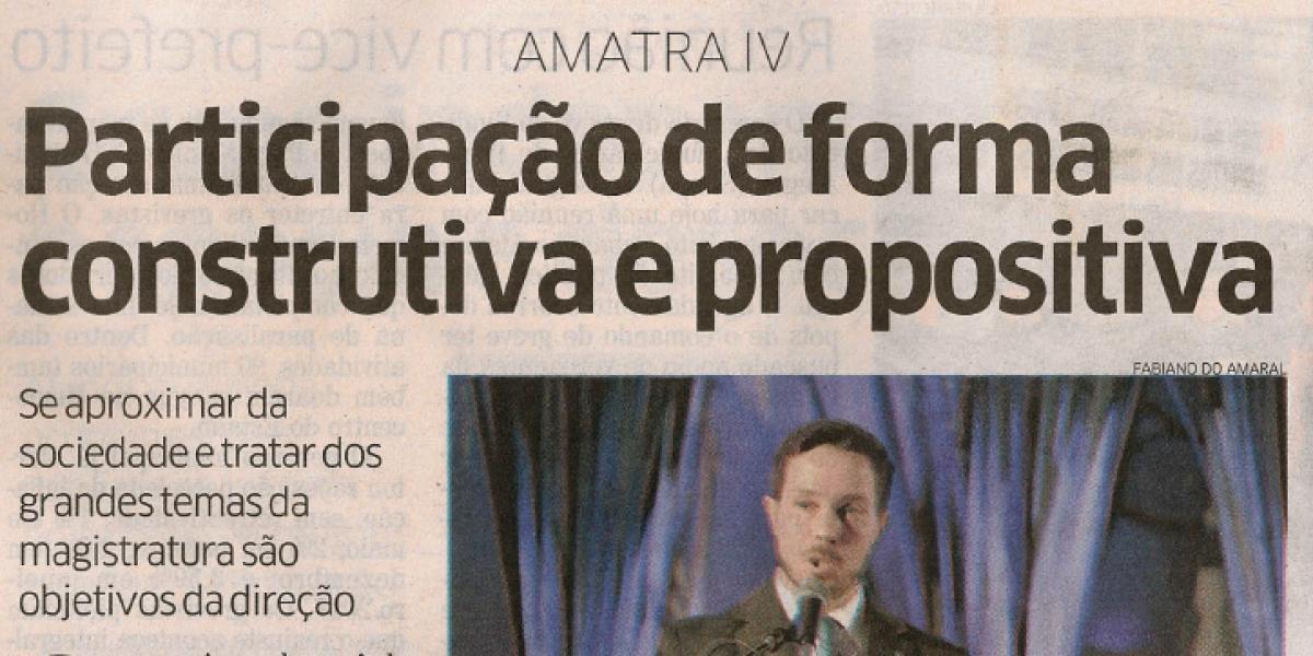 AMATRA na mídia – Confira matéria sobre a posse da nova diretoria da Associação