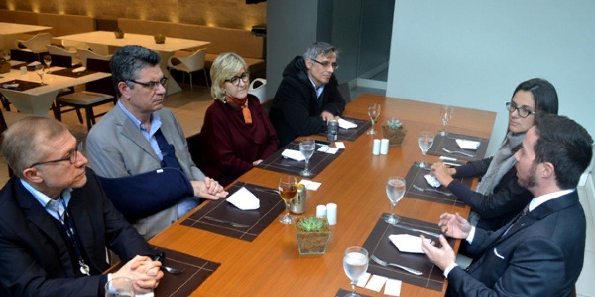 Diretoria da Associação esteve reunida com representantes da RBS nesta quinta-feira, 30/6
