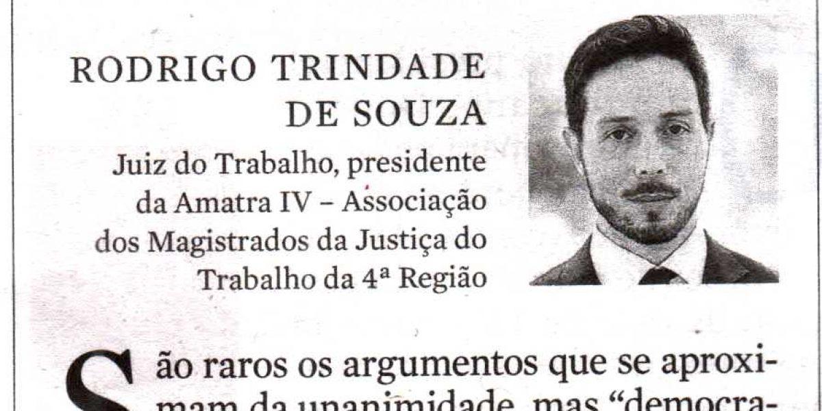 Rodrigo Trindade de Souza: república também nos tribunais