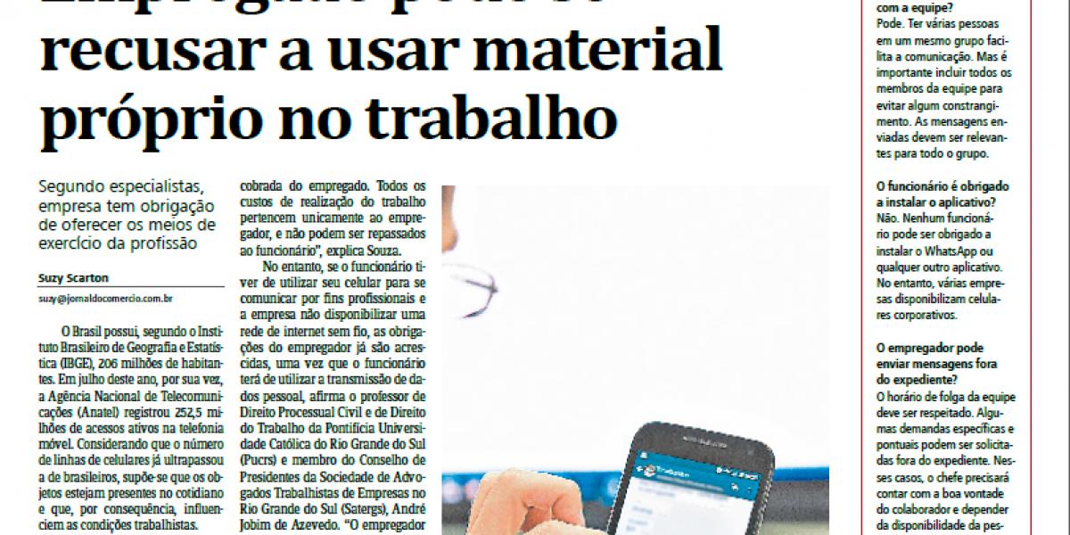 No Jornal do Comércio