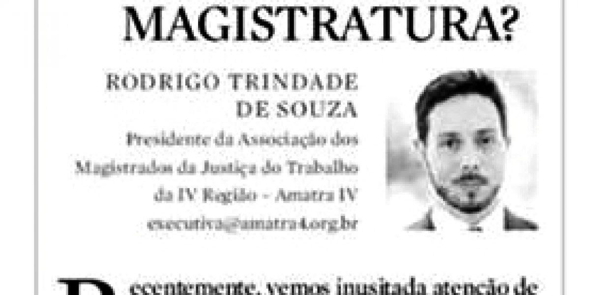 Artigo: A quem interessa a difamação da magistratura?