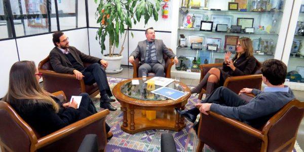 AMATRA IV faz visitas a veículos de comunicação: Jornal do Comércio