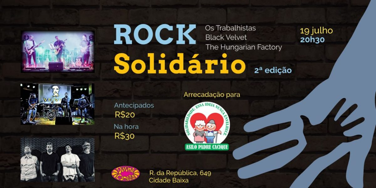 Participe do Rock Solidário com renda revertida ao Asilo Padre Cacique