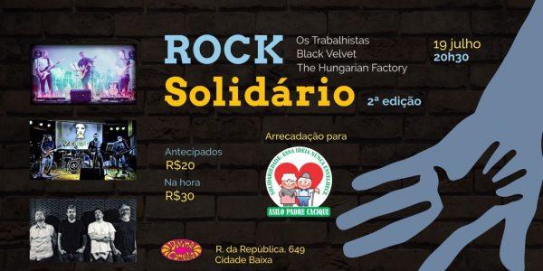 Participe do Rock Solidário com renda revertida ao Asilo Padre Cacique