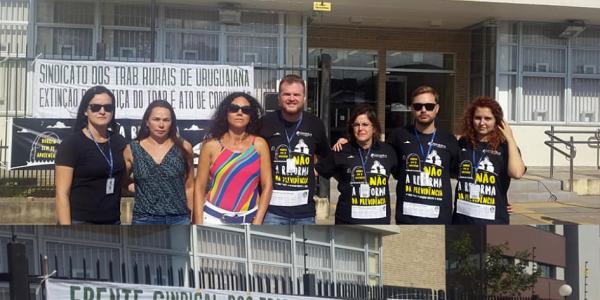 Ato público em defesa da Justiça do Trabalho ocorreu em Uruguaiana