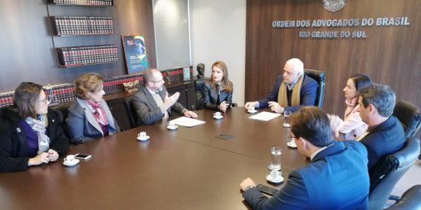 Reunião da Frentas RS com o presidente da OAB