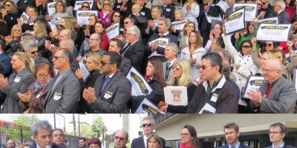 Ato contra a lei de abuso de autoridade reuniu grande público em Porto Alegre