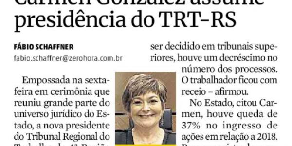 Em entrevista ao jornal Zero Hora, a presidente do TRT4  fala sobre a reforma trabalhista.