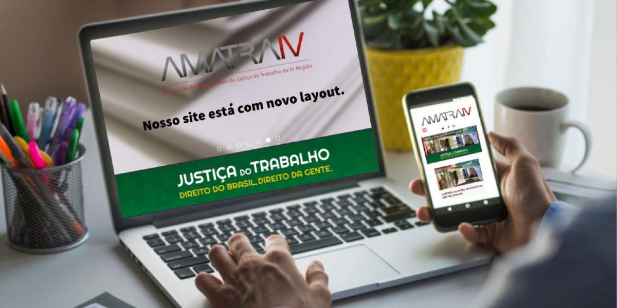 Novo site da AMATRA IV