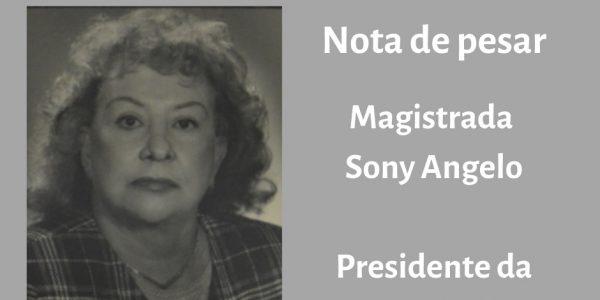 A AMATRA IV comunica, com imenso pesar, o falecimento de sua ex-presidente Sony Angelo, aos 89 anos