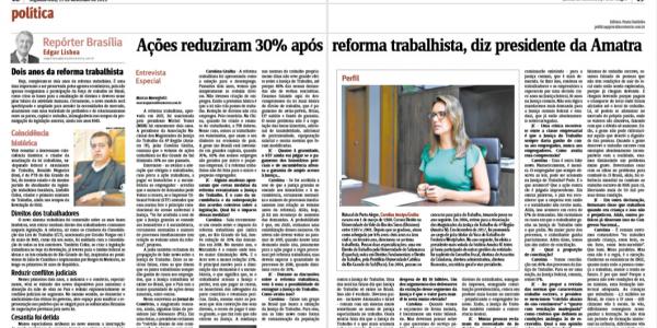 Ações reduziram 30% após reforma trabalhista, diz presidente da Amatra